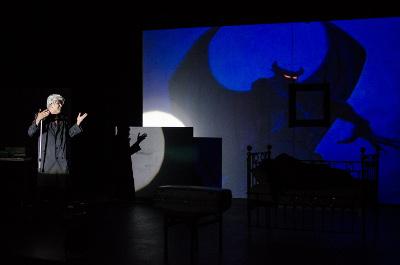 H, el gordito quiere ser cineasta, de Jose Luis Saldana y Omar Medina, se presenta en el Teatro Helenico, febrero 2015